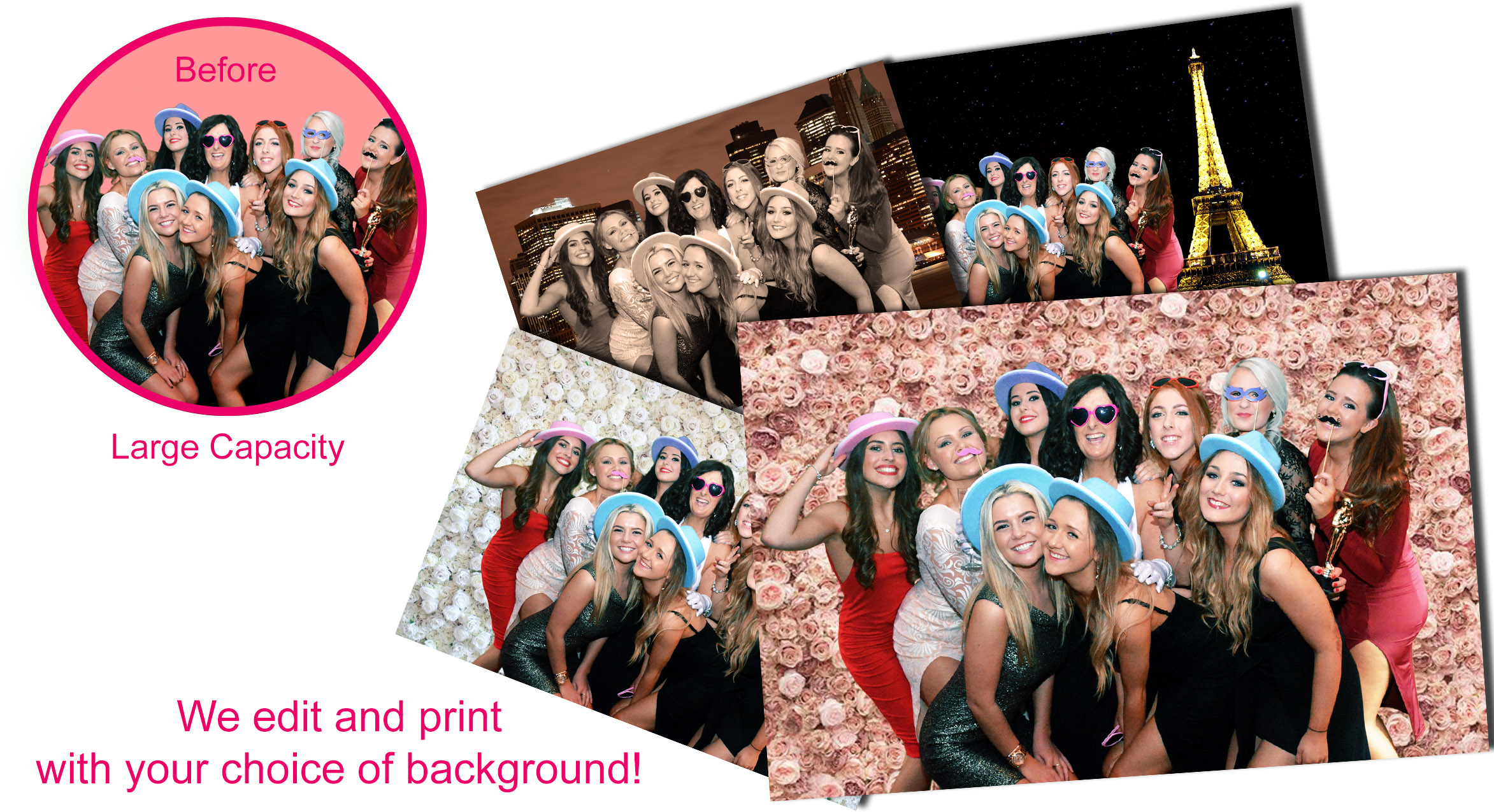 Large Capacity green screen photo booth